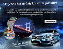 Mercedes-Benz A Class Facebook Application Design