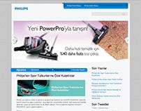 Philips Turkey Blog Website Design