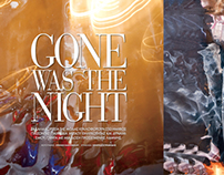 Gone was the night