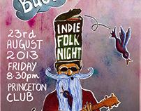 Ifs and Buts - Indie Folk Night gig poster