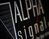 "Logo for the techno label ""Alpha Signal Records"""