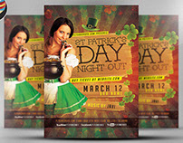 St. Patrick's Day Night Out Flyer Template