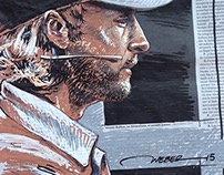 Jenson Button, Drawing on Newspaper