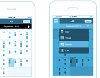 Calendar/ Timetable -Mobile Wireframe