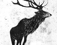 Digital Ink Etching Series