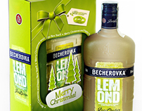 Christmas Limited Package of Becherovka Lemond