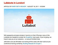 Lullabot Email Marketing and Blog Post
