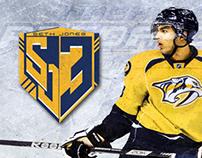 Seth Jones Nashville Predators Logo & Uniform Swap