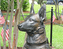 SOF K9 Memorial Bronze Statue | Military Dog Statue