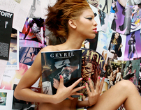 Independent Photo Study: Implied Nudity with Magazines