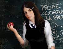 Colegiala (schoolgirl pinup)
