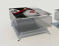 Coffee Table P2 with Printed Glass Top