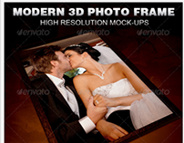 Modern 3D Photo Frame Mockup Template
