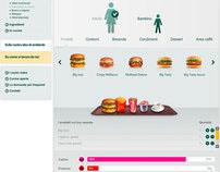 McDonald's - Calories calculator