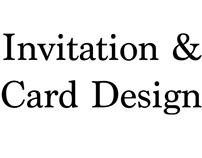 Invitation & Card Design