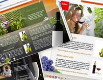 Webdesign  for Macedonian wine promotion.