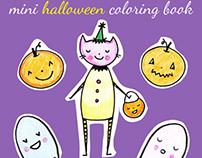 Mini Halloween - Coloring Book