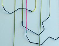 black wire & color thread