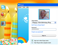 Skype Birthday Cake