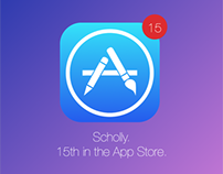 Scholly Promo: 15th in App Store