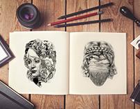 Free Artist Sketch Book MockUp PSD