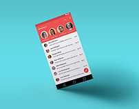 Design concept for message section on Android OS