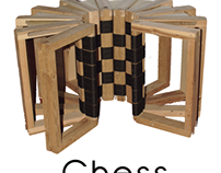 Chess folding table