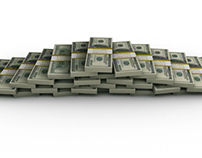 Financial Money Pyramid of $100 Bills + 2 Styles
