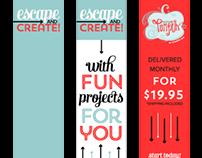 Paper Pumpkin web ads, 2013.