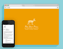Website for Roe Deer Press, a microsized business