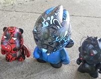 Custom Vinyl Toys: Cosmic Fox,Ren,Majestic,Salt/Pepper