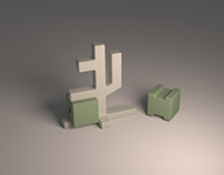 Q-bit Edition 2.0   Print 3D PLA salt & pepper shakers