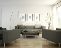 3D RENDERING / LIVING ROOM