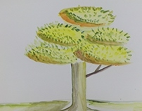 Water Colour - a tree