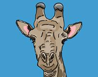 Giraffe Illustration (neck and head)