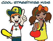 Streetwise kid stickers for the Streetwise Charity