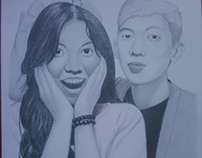 Portrait Drawing of SH Prasetya and Girlfriend (CW)