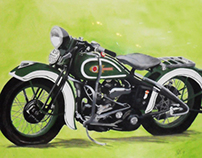 1937 Harley Davidson Knucklehead