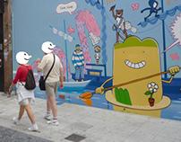 Mural Marcopola na Coruña