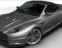 Aston Martin 3D modeling