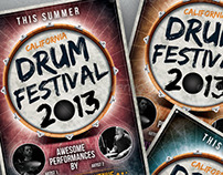 Envato Marketplaces | Drum Festival Flyer Template