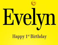 Evelyn's First Birthday Poster