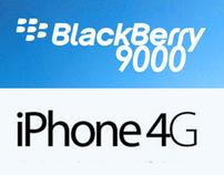 Periklanan ( Iphone 4G & Blackberry 9000 ( contoh)