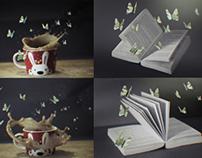 { Paper Butterflies }