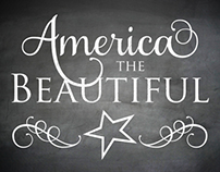 Free America the Beautiful Chalkboard Poster