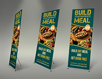 Restaurant Roll-up Signage Banner Template