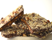 Crunch. Handmade chocolate, toasted almonds, coconut.