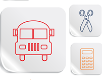 Education and School Vector Icons Set