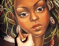Beautiful dark-skinned girl 2