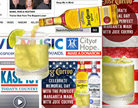 Jose Cuervo Memorial Day Homepage Takeover